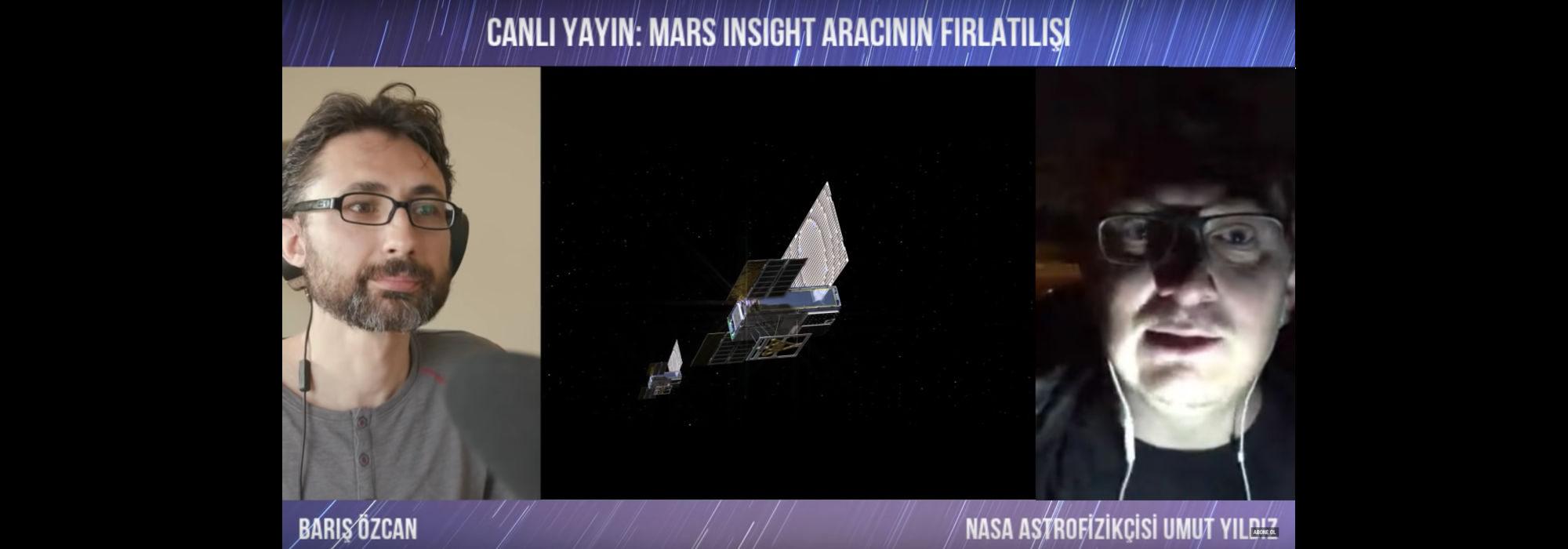 Barış Özcan'la Mars InSight Aracının Fırlatılışı (CANLI YAYIN) #insightMarsaGidiyor